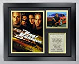 Legends Never Die The Fast and The Furious Movie Collectible | Framed Photo Collage Wall Art Decor - 12'x15', Model: 16376U
