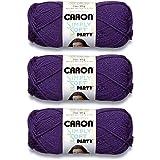 Caron H97PAR-6 Simply Soft Party Yarn - Purple Sparkle