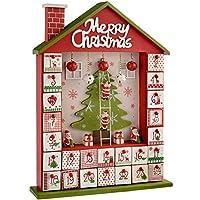 Calendario dell'Avvento con 24cassetti numerati in legno che possono essere riempiti con dolcetti per i bambini. Ideale per decorare un davanzale, la credenza o il caminetto. Conto alla rovescia a Natale con questo simpatico calendario dell'Avvento ...