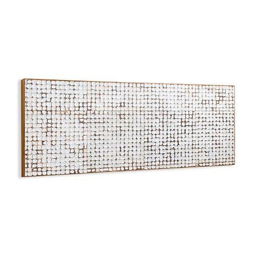 Kave Home - Cabecero Kron Blanco 174 x 60 cm de cáscara de Coco con Acabado Blanco para Cama de 150 o 160 cm