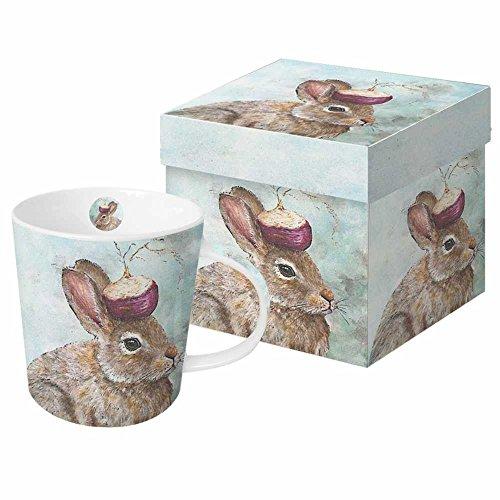 Paperproducts Design Garden Bunny - Taza de porcelana con diseño de conejito en caja de regalo, 13,5 onzas, multicolor