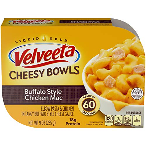 Velveeta Cheesy Bowls Buffalo Style Chicken Mac, 9 oz Box (Pack of 6)