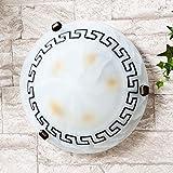 Edle Deckenleuchte im Mediterranen Stil E27 Fassung griechisch rustikal Handbemalung Deckenlampe oder Wandleuchte