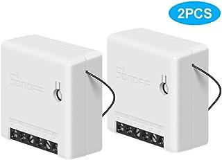 Interruptor SONOFF Mini DIY Smart Switch pequeño cuerpo mando interruptor WiFi soporte interruptor externo funciona con Google Home/Nest IFTTT y Alexa