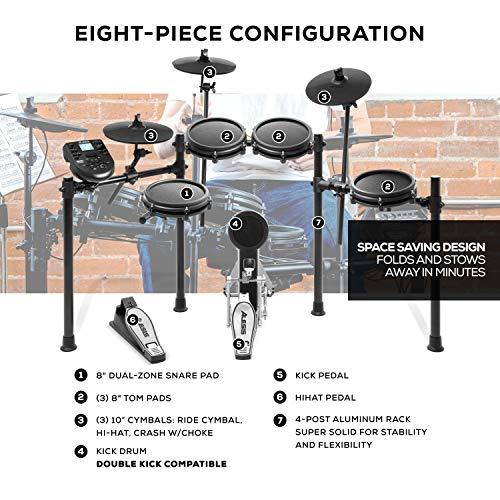 Alesis Drums Nitro Mesh Kit | Eight Piece All Mesh Electronic Drum Kit With...