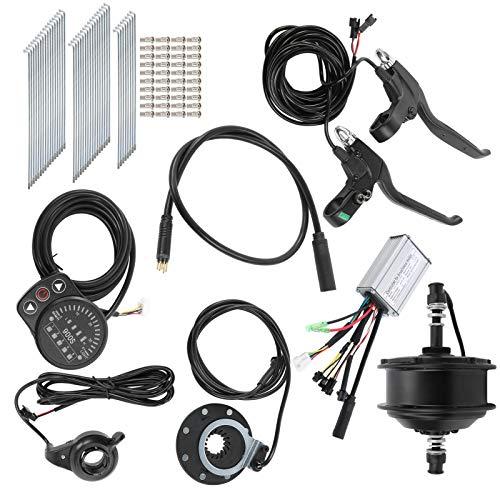 Alomejor Kit de conversión de Bicicleta eléctrica de 36 V 250 W con Controlador Medidor de Bicicleta KT-900S para Velocidad de Rueda de 26 Pulgadas 12G 25 km/h(Motor de Rueda Libre Trasera)
