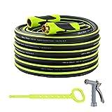 Grace Green Garden Hose,Hybrid 5/8 in.×50FT Water Hose, Both End SwivelGrip, Heavy Duty, Light Weight, Flexible