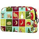 Bolsa de maquillaje personalizada para brochas de maquillaje portátil para mujer, bolso de mano, organizador de viaje, calendario de Adviento