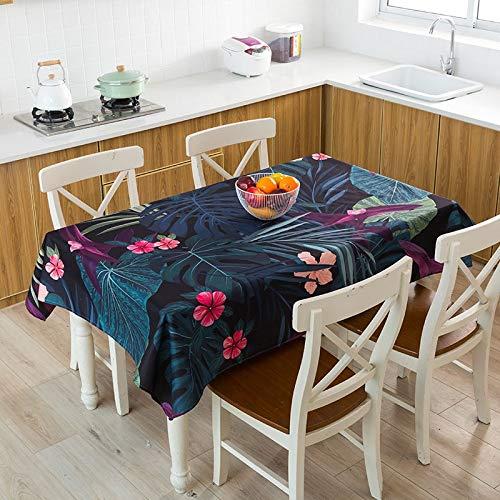 XXDD Mantel con Estampado de Hojas, Mantel Impermeable, Mantel Rectangular para Cena, Mantel a Cuadros, Mantel de café, A14, 140x180cm