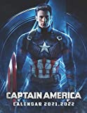 Captain America: 2021 – 2022 TV Series & Movie Calendar – 18 months – 8.5 x 11 inch High Quality Images