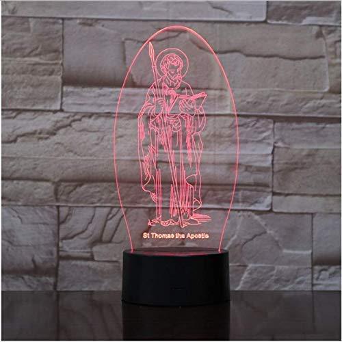 Acryl-3D-LED-Nachtlichter, Illusion, Heimdekoration, optische Lampenbeleuchtung, USB-Touch, leuchtend, Geschenk