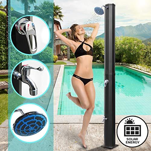 Aquamarin® SLDSCH03schwarz doccia solare 35L nero fino a 60 C°