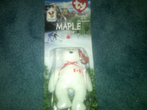 Ty RARE Collectible Maple the Bear Beanie Baby! Ronald Mcdonald House Charities NEW