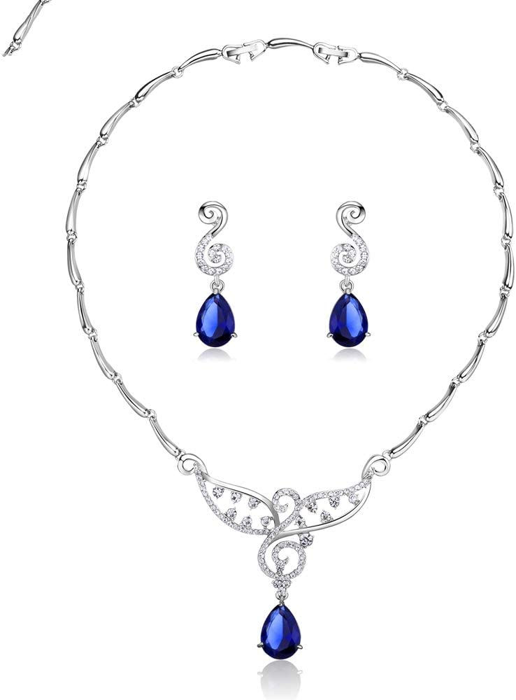 Earrings Hoops Studs Ear Nails Silver Blue Max 56% Challenge the lowest price of Japan ☆ OFF Pear Cut Color Zircon
