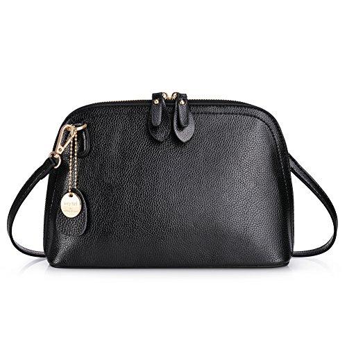 VBIGER Handtasche Umhängetasche Damen Klein PU Leder Elegant Damen Tasche Schultertasche Schwarz