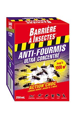 BARRIERE A INSECTES Flacon Anti-Fourmis concentré, Jusqu'à 3 mois, 250 ml, BARFOUR250N