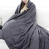 RATEL Gewichtsdecke 150×200cm, 7.22 Kg Beschwerte Decke aus Aus 100% Baumwolle Und...