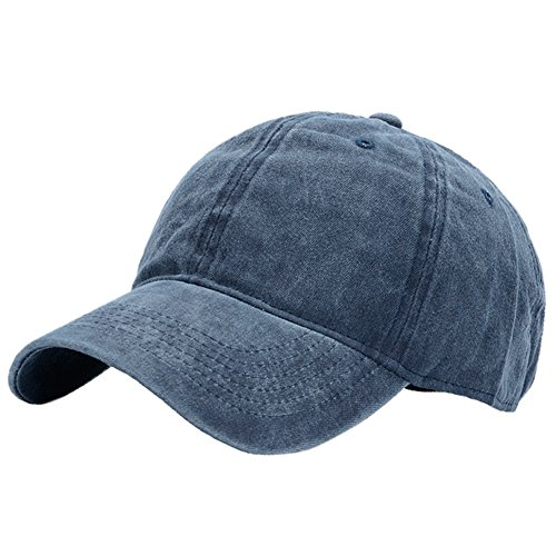Kekebag Men & Women's Washed Cotton Baseball Caps Adjustable Plain Dad Hat Navy