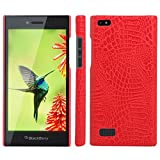 HualuBro BlackBerry Leap Hülle, [Ultra Slim] Premium Leichtes PU Leder Leather Handy Tasche Schutzhülle Hülle Cover für BlackBerry Leap Smartphone (Rot)