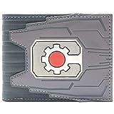 Cartera de DC Cyborg Logotipo del engranaje de la máquina Plata