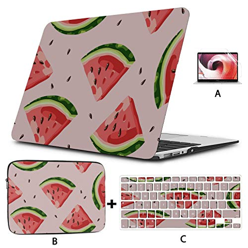 MacBook Pro Case 15 Juicy Watermelon Watercolor MacBook Pro Case 2015 Hard Shell Mac Air 11'/13' Pro 13'/15'/16' with Notebook Sleeve Bag for MacBook 2008-2020 Version