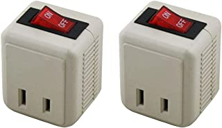 Uninex PS26 2-Prong Outlet Power On/Off Switch, ETL, 2-Pack