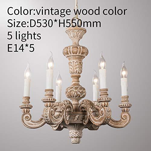 KAIBINY Roman Pilar Chandeliers de madera tallada luces colgantes italiana murano retro...