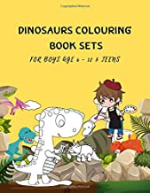 Dinosaurs Colouring Book Sets For Boys Age 6 - 12 & Teens: 8.5 X 11 Childrens Books Animals 5-7 Or 8-12 Year Old Girls Kids Thanksgiving Variety Pack Party Favors 105 Pages Vol 7