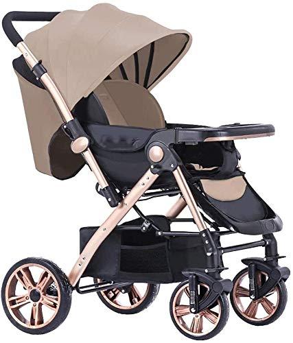 BESTPRVA Cochecito de bebé portátil carro de bebé del cochecito de bebé Cochecito infantil cochecito ligero sistema de viaje Buggy Con el cesto for dormir múltiples ángulos Con bandeja extraíble for 0
