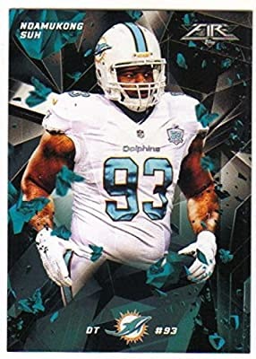 2015 Topps Fire Football #49 Ndamukong Suh Miami Dolphins