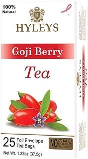 Hyleys Wellness Natural Green Tea with Goji Berry - 25 Tea Bags - (100% Natural, Sugar Free, Gluten Free and Non-GMO)