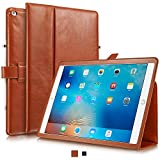 KAVAJ iPad Pro (12.9') Leather case Cover London Cognac Brown - Genuine Leather with Stand-up Feature. Thin Smart Cover as Premium Accessory for The Original Apple iPad Pro 12.9' 2015 Model