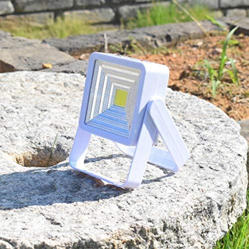 Camping Zelt Licht, Im Freien Wasserdichte Solar Led Externe Magnet USB Wiederaufladbare Tragbare Notlicht (2 Stücke),White