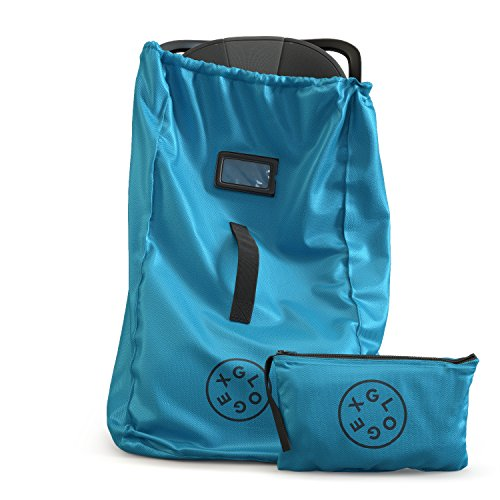 Glogex Durable Car Seat Travel Bag, Airport Gate Check, Easy-to-Carry, Backpack-Styled Shoulder Straps | Water-Resistant Ultra-Durable Polyester (Bright Blue)