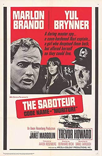 Saboteur Code Name Morituri - Authentic Original 27x41 Folded Movie Poster