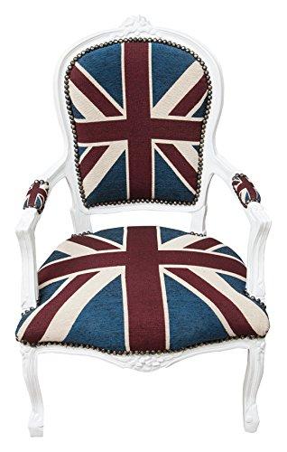 Biscottini sillón Estilo Francés Luis XVI de Madera Maciza de Haya L65X pr65X P CM
