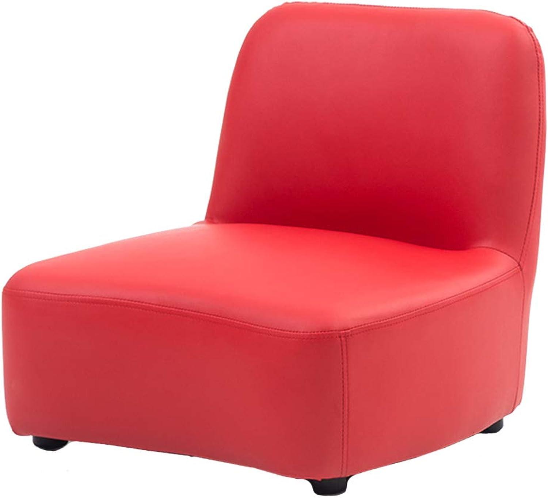 Bodenstuhl, Kindersofaset Kindersessel Stuhl PU Leder Sitz - 5 Farben Optional (Farbe   rot)