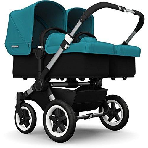 Buy Bargain Bugaboo Donkey Twin Stroller Bundle, Aluminum Base with Petrol Blue Tailored Fabric Set