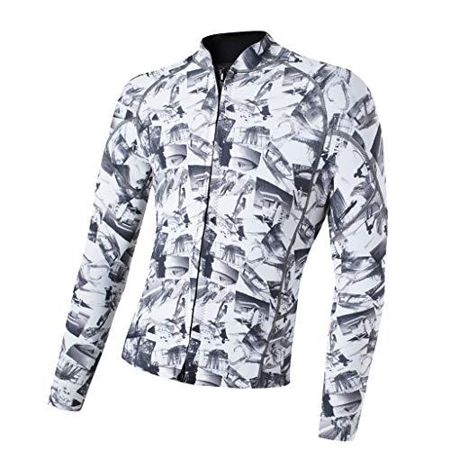 P Prettyia Damen Neopren Jacke Wassersport Schwimmanzug Tauchanzug 2mm Rash Guard Langarm UV-Schutz Schwimmshirt - Schwarz Blau XXXL