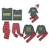 Pijamas de Navidad a juego para niños y adultos, conjunto de pijama de Navidad para niños, pijama y ropa de dormir familiar a juego MEN Talla:XS