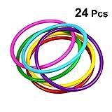 Toyvian Anelli di Lancio di plastica 24pcs per Bambini Ring Toss Gioco di Giochi all'apert...