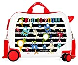 Movom Happy Time Maleta Infantil Multicolor 50x38x20 cms Rígida ABS Cierre combinación 34L 2,1Kgs 4 Ruedas Equipaje de Mano