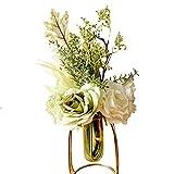 Ramo de rosas artificiales, flores artificiales realistas de seda, arreglos con tallos para ramo de novia, decoración de boda, centros de mesa