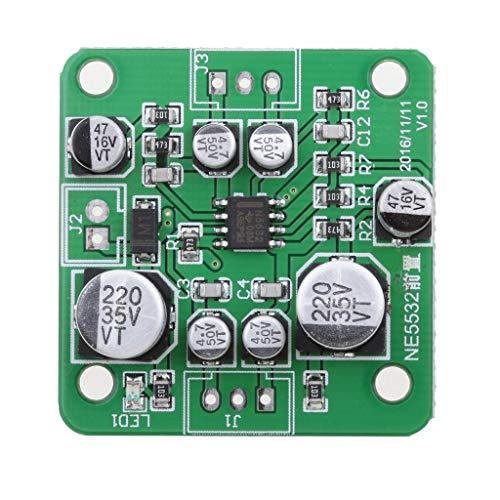 JKCKHA Módulo preamplificador NE5532 Audio estéreo PCB Ampli Audio Junta VCC - Positivo de la batería de 12V-30V DC Leiterplatte