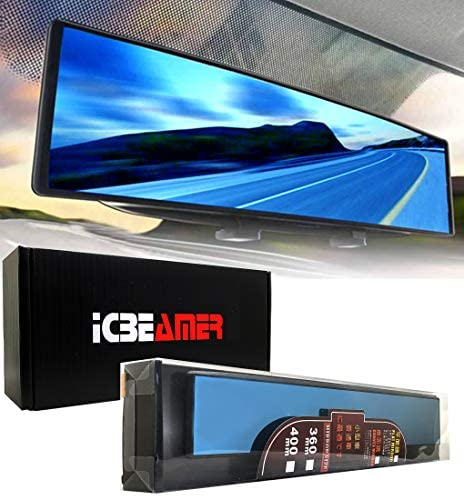 ICBEAMER 15 8 400mm Easy Clip on Wide Angle Panoramic Blind Spot Fit Auto Interior Rearview product image
