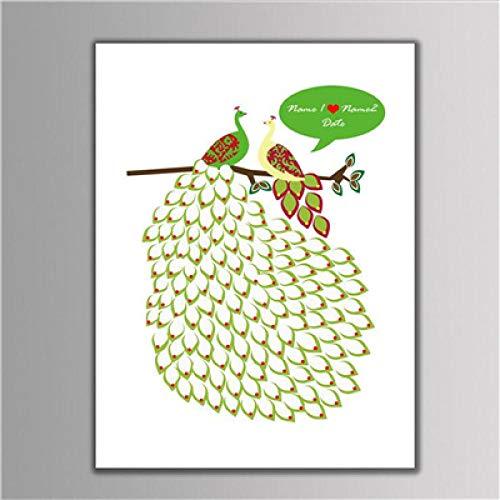 Huella digital Árbol de dibujos animados Pintura con almohadilla de tinta Firma...