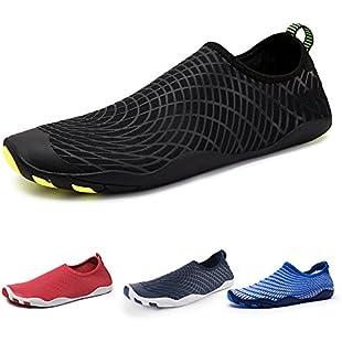 Customer reviews IceUnicorn Water Shoes Mens Womens Quick Dry Sports Aqua Shoes Unisex Swim Shoes With 14 Drainage Holes For Swim,Walking,Yoga,Lake,Beach,Garden,Park,Driving,Boating(Black,11UK)