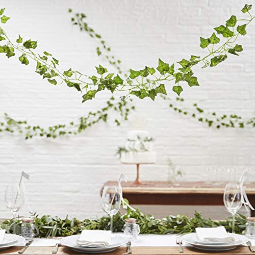 Ginger Ray Artificial Fake Hanging Vines Plant Leaves Garland for Wedding Decorations 5 Pack