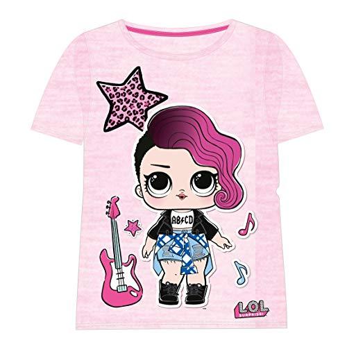Cerdá Camiseta Manga Corta LOL, Rosa (Rosa C01), 6 años para Niñas