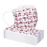 30PC Papá Noel de Bandanas Respirable Polaina de cuello Elástico Multifuncional Wicking Pañuelo Estampado Papá Noel, Reutilizable, 𝐌𝐚𝐬𝐜𝐚𝐫𝐢𝐥𝐥𝐚𝐬 facial de tela de algodón reutilizable